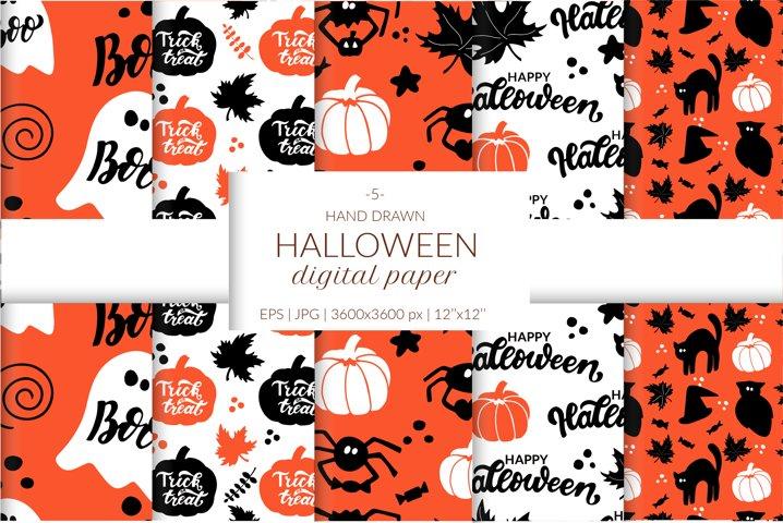 Halloween digital paper pack. Halloween seamless patterns