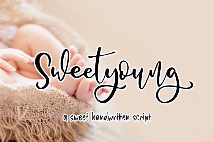 Sweetyoung a Sweet Handwritten Script