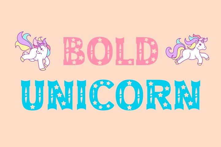 Bold Unicorn Font