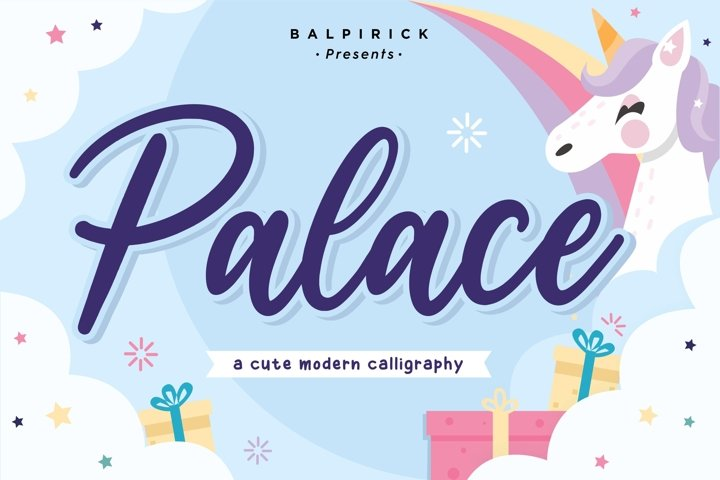 Palace Cute Modern Calligraphy Font