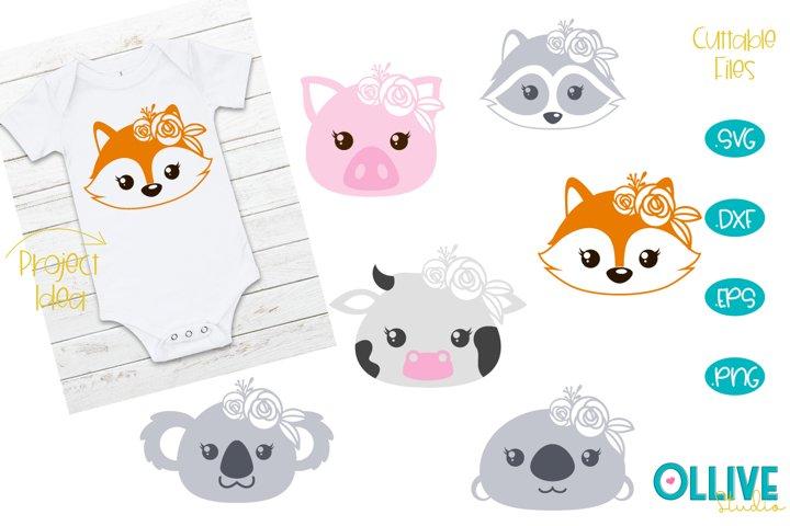 Baby Animals Roses SVG Bundle