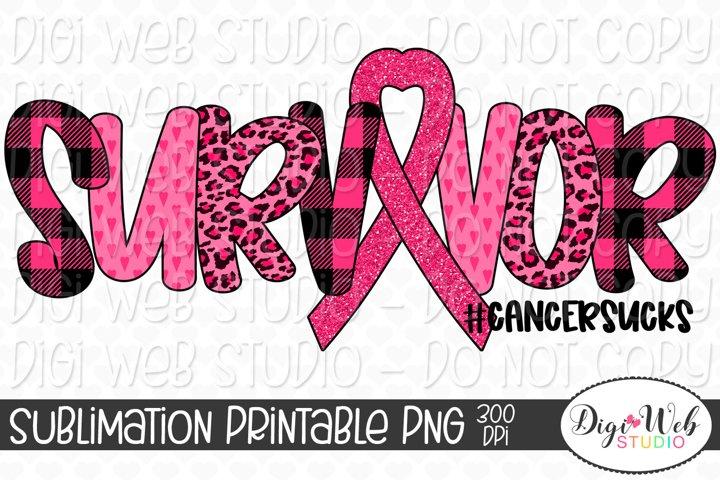 Breast Cancer Awareness Survivor Cancer Sucks Sublimation