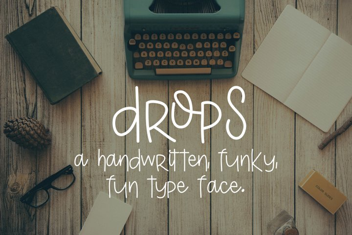 Drops - Free Font of The Week Font