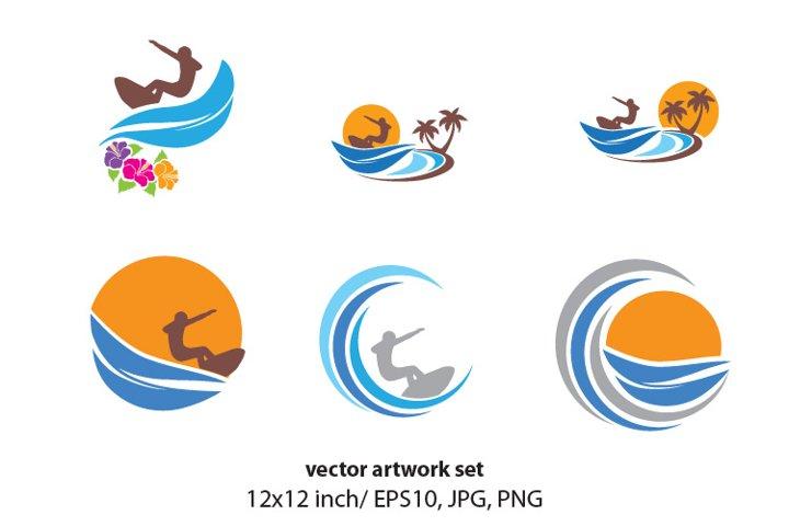 Surfer - VECTOR ARTWORK SET