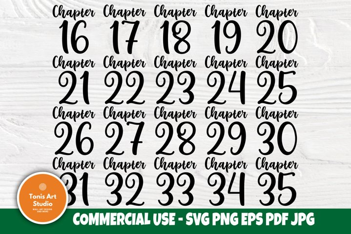 Chapter 16-35 Birthday SVG, 20th, 30th, Shirts Svg Cut Files