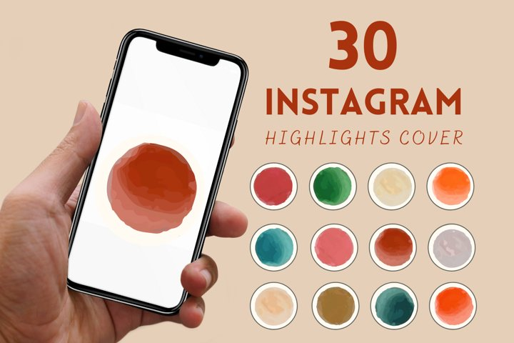 30 FALL WATERCOLOR INSTAGRAM STORY HIGHLIGHT COVERS | Insta