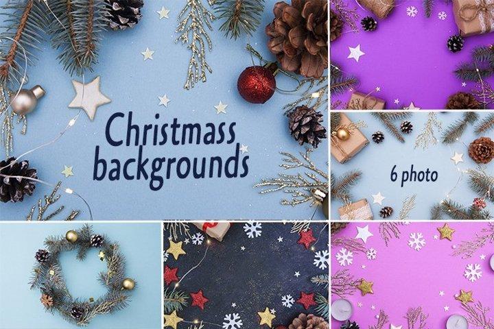 Christmass backgrounds set
