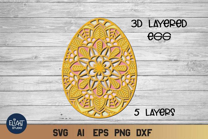 Easter SVG | 3d Layered SVG Egg | Cut File