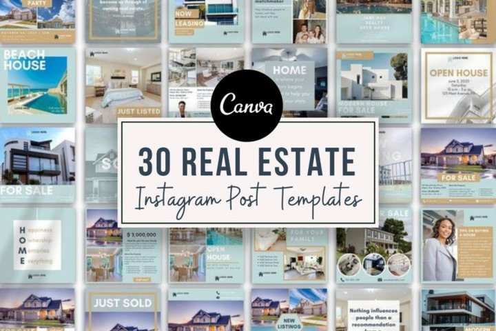 Real Estate Agent Instagram Post Templates , Canva, Realtors