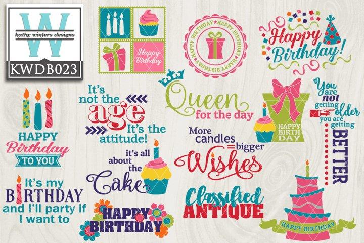 Birthday Designs Kathy Winters Designs Design Bundles
