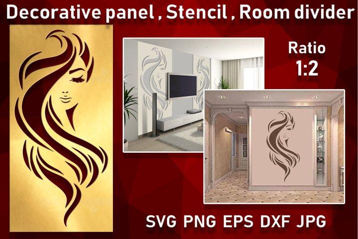 Stencil Decorative panel Wall hanging room divider