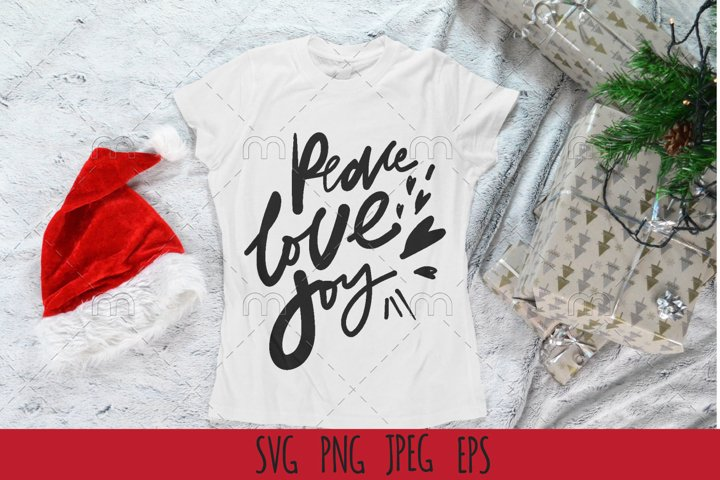 Christmas SVG| Peace, love, joy! SVG cut file