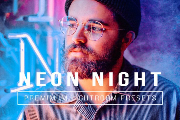 10 Mobile Lightroom NIGHT Presets, Neon Mobile Presets