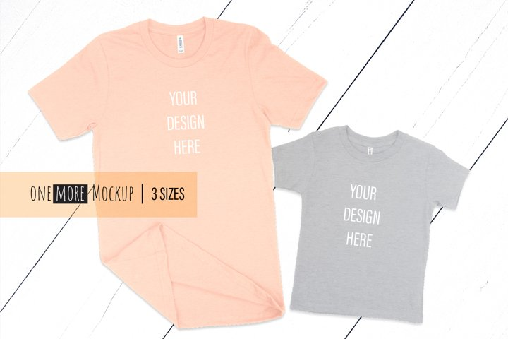Mom and Me T-Shirts Mockup | Bella Canvas 3001, 3001T