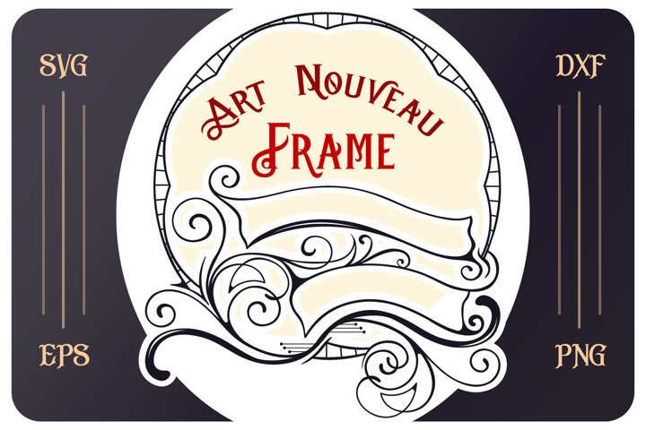Art Nouveau SVG cut file