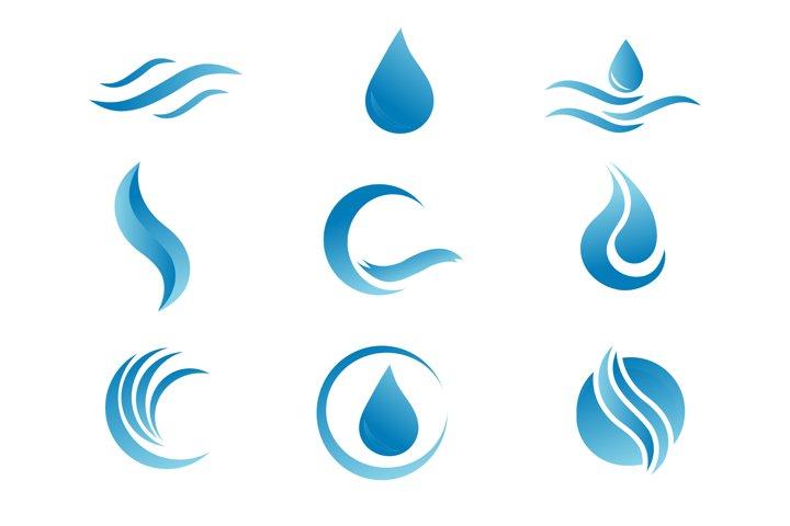 Sublimation Water Drop Logo