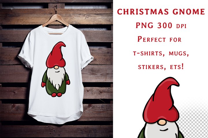 Sublimation Christmas Gnome Png