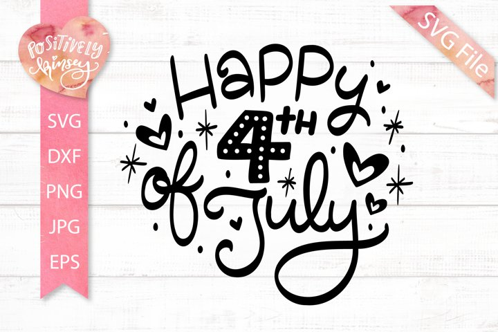 Happy 4th of July SVG, Independence Day SVG File, USA Design