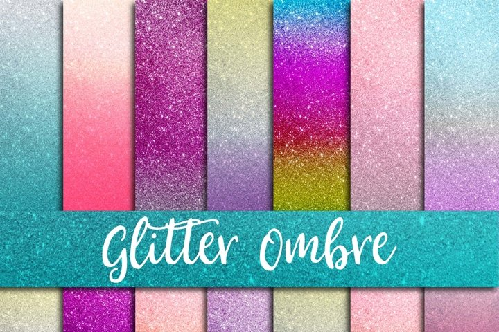 Glitter Ombre Digital Paper - Free Design of The Week