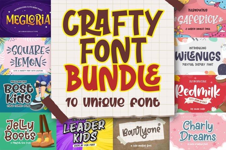 Crafty Font Bundle | By Awan Senja