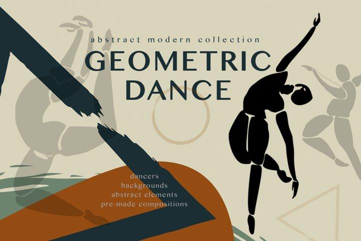 Geometric dance. Abstract art