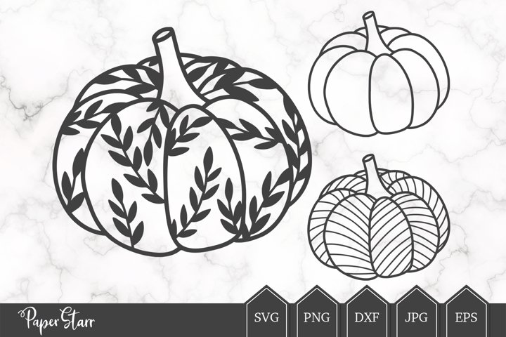 Pumpkin SVG Cut File for Crafters
