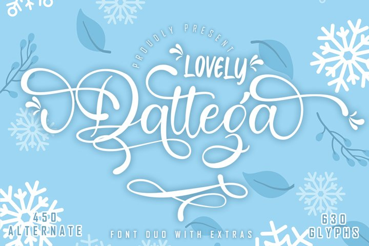 Lovely Dattega - Font Duo with extras