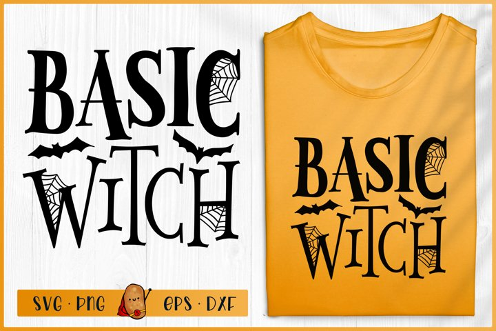 Halloween SVG - Basic Witch SVG - Halloween Sign SVG
