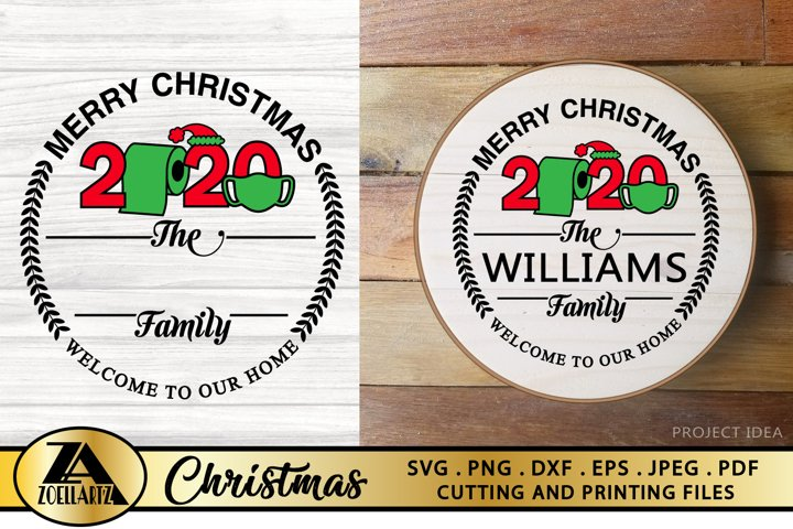 Merry Christmas 2020 SVG PNG EPS DXF Family Monogram SVG