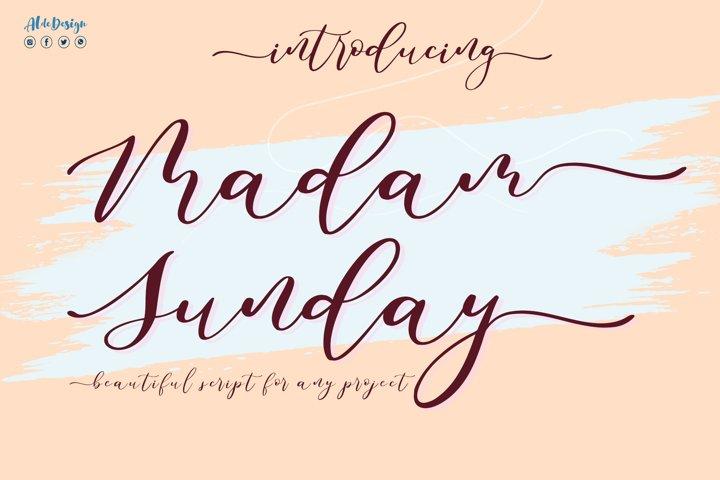 Madam Sunday - WEB FONT