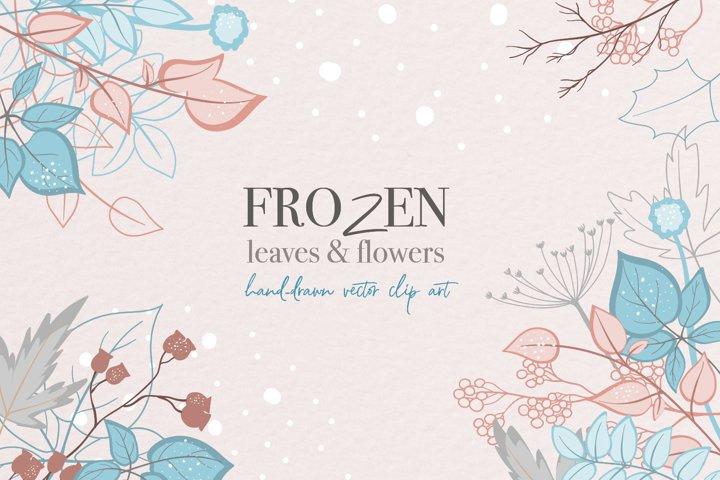 Christmas / Winter / Flowers/ Leaves / Vector / Clip art