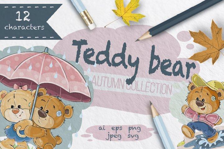 Teddy Bears in the Fall