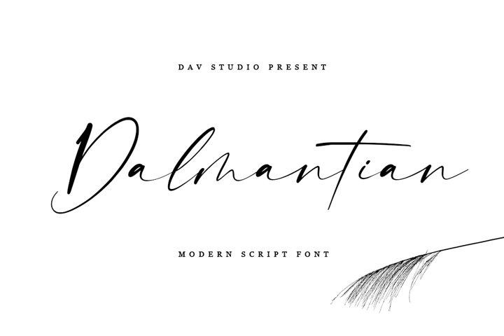 Dalmantian - Modern Script Font