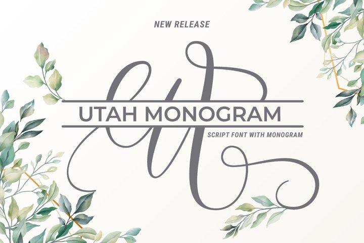 Utah Script With Monogram