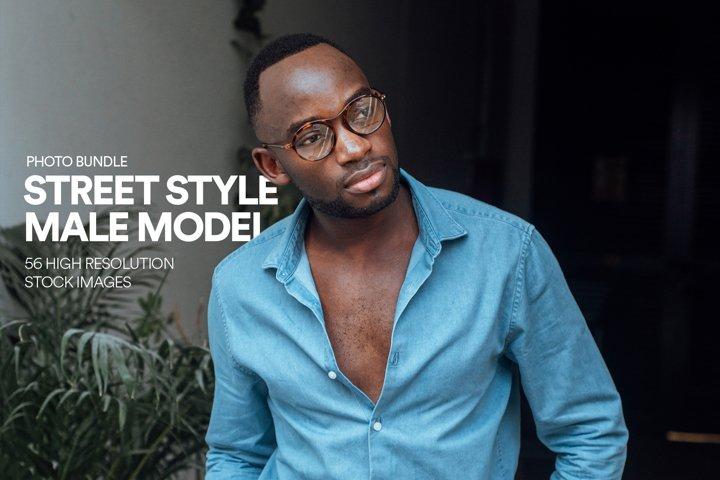 Street Style Male Model - Hipster Fashion - Bundle