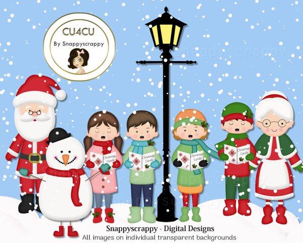 Christmas Snow Fun Clipart