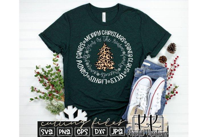 Merry Christmas Svg, Leopard Christmas Tree Svg, Christmas