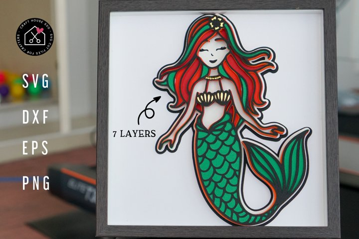 3D Layered SVG | 3D Mermaid SVG | 3D Layered Mermaid SVG
