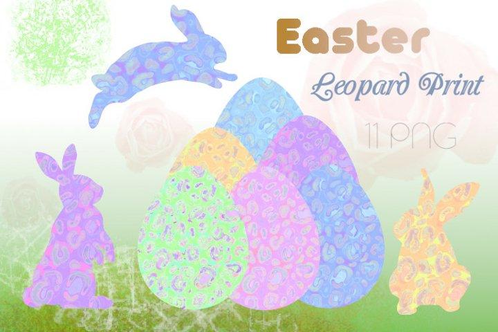 Leopard Print Easter, Eggs, Bunny