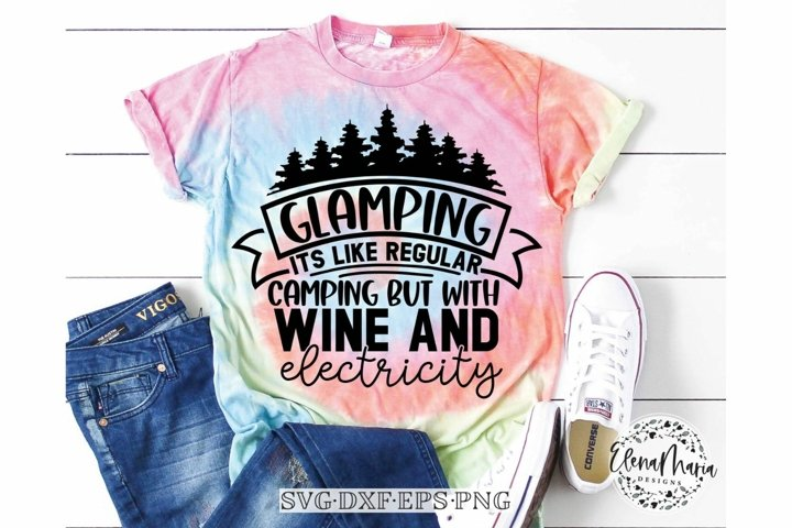 Glamping and Wine Svg File