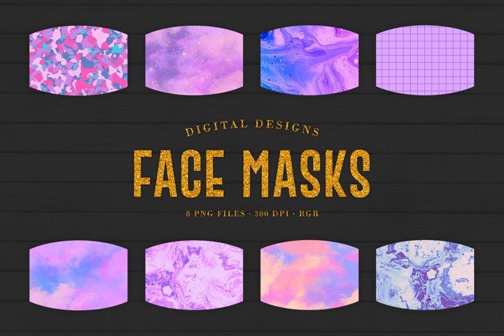 Purple Face Masks Designs For Sublimation