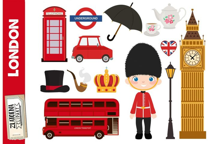 London Clipart British Clipart England graphics UK