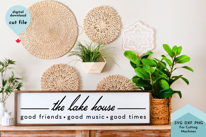 Lake House Welcome SVG, Lake Sign, Porch, Dock, Patio Decor