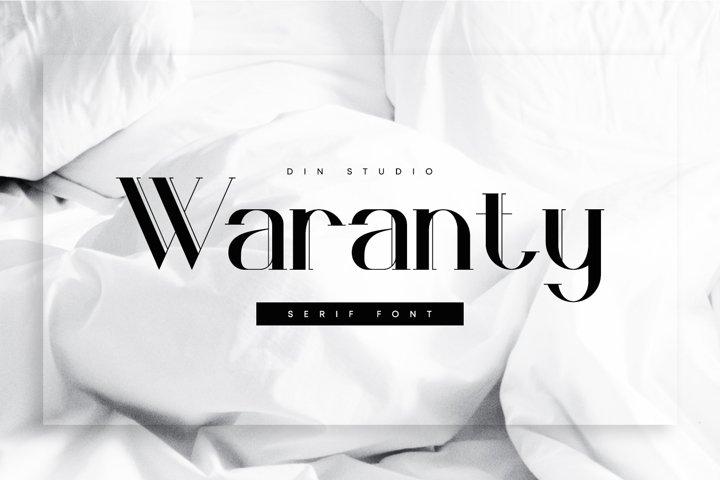 Waranty-Elegant Serif Font