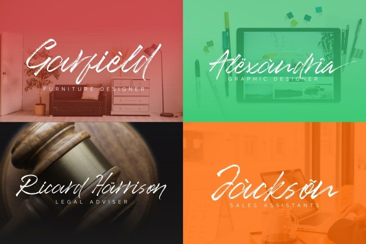 Ancient Handbrush Typeface example 3