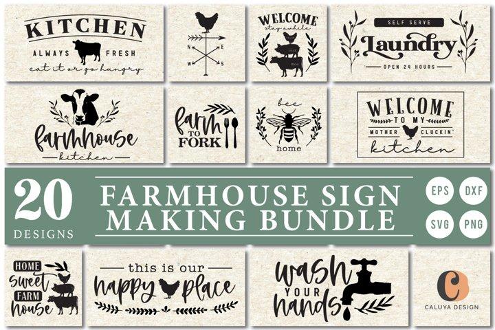 ULTIMATE Farmhouse Sign Making SVG Bundle