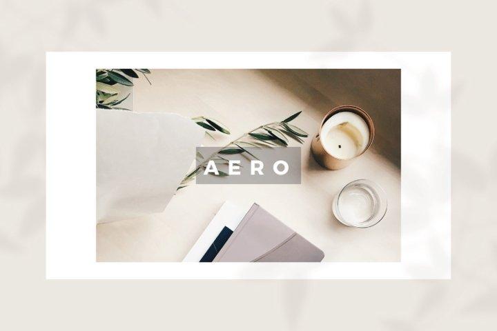 AERO Minimal Keynote Template