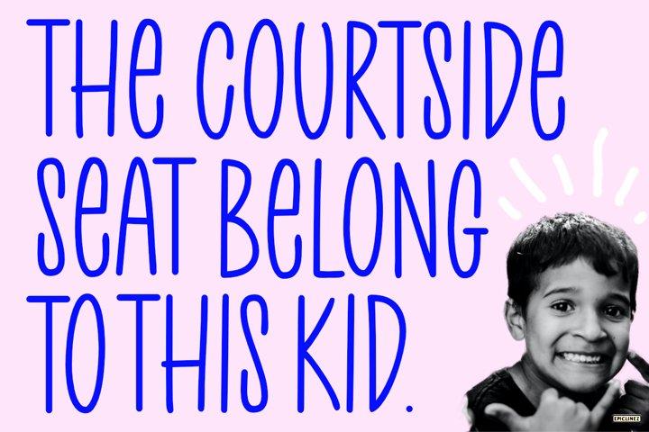 Court Side - A Playful Handwritten Font example 2