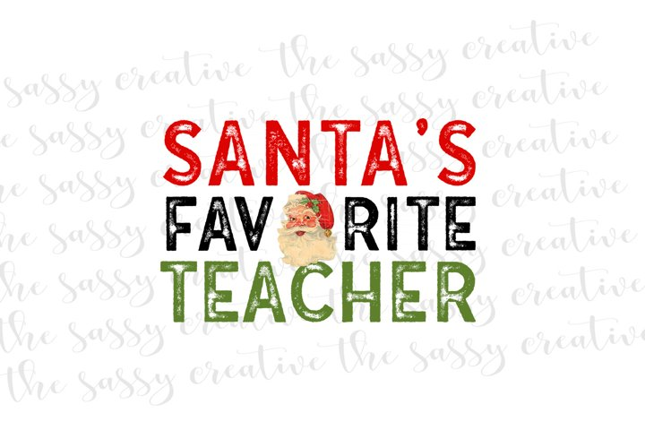 Sublimation Designs | Teacher Christmas PNG File