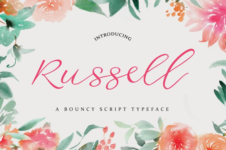 Russell Font example